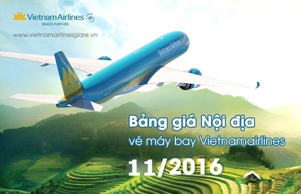 bang gia ve thang vietnam airlines