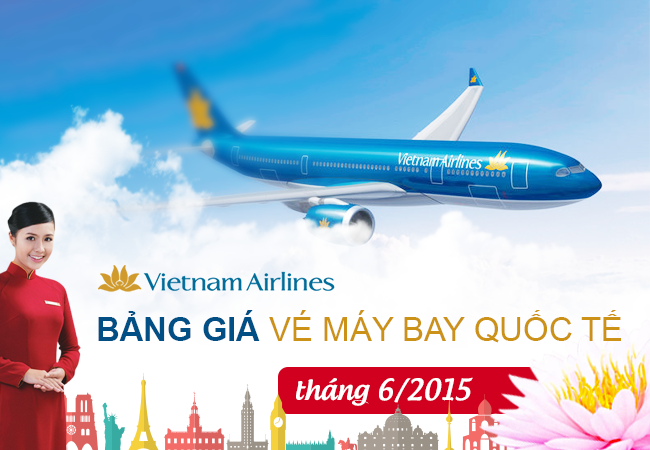 gia ve may bay vietnam airlines thang 6