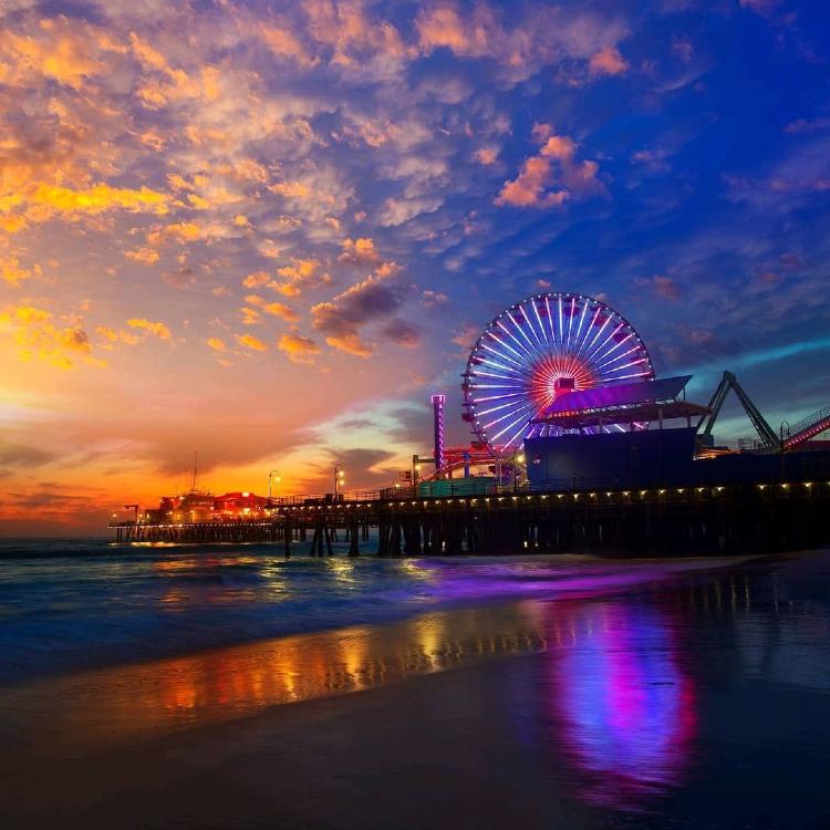 bãi biển Santa Monica State