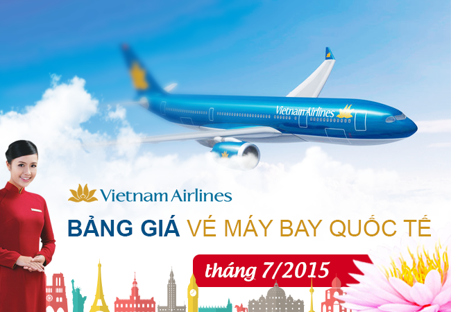 ve may bay vietnam airlines quoc te