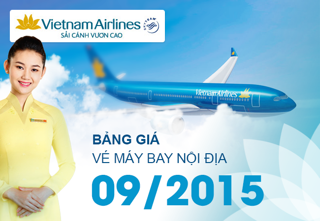 gia ve vietnam airlines noi dia thang 9
