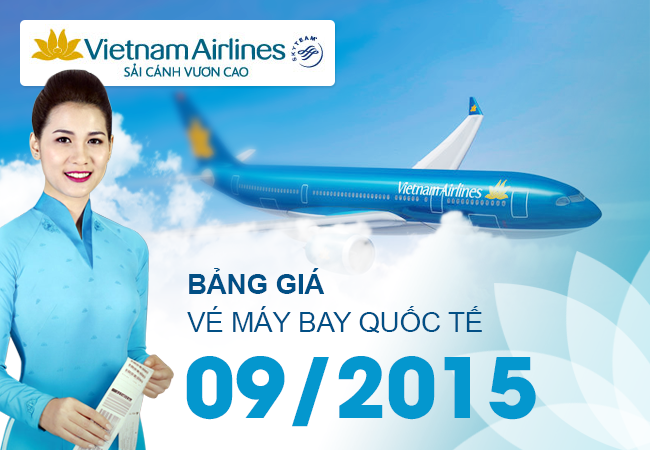 bang gia ve may bay quoc te vietnam airlines