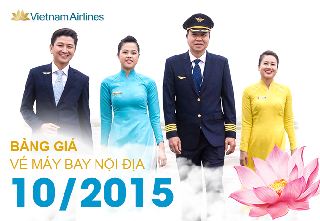 gia ve may bay vietnam airlines noi dia thang 10