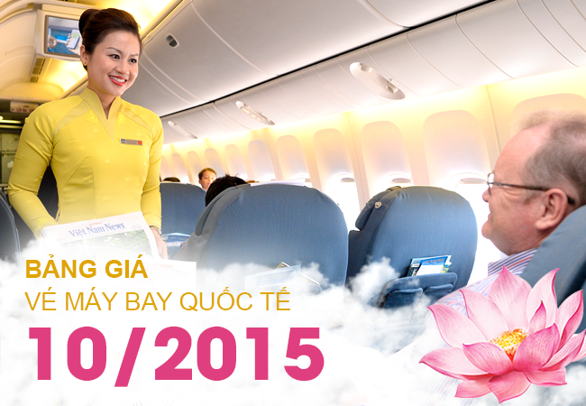 bang gia ve may bay vietnam airlines thang 10