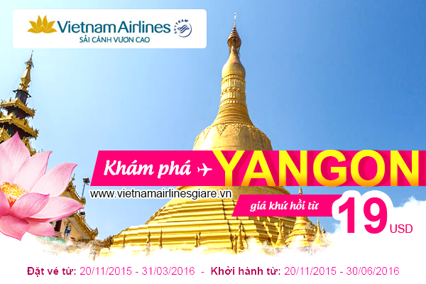 khuyen mai ve may bay di yangon vietnam airlines