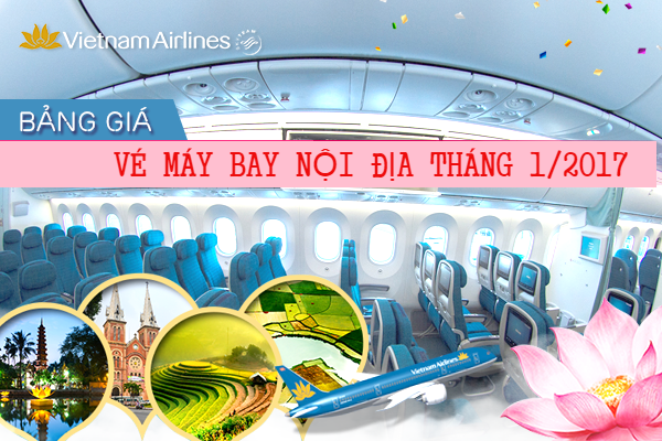 ve vietnam airline noi dia thang 1/2017