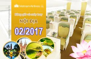 Giá vé máy bay Vietnam Airlines nội địa tháng 2 năm 2017