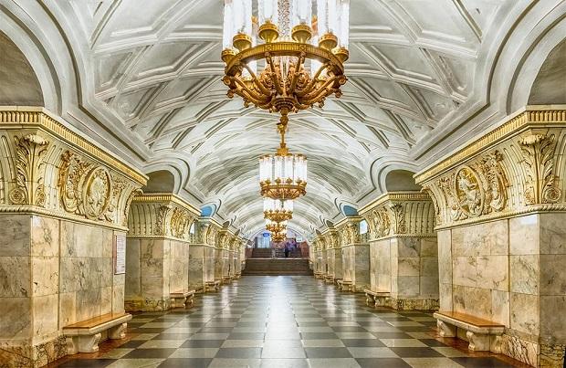 Ga tàu điện ngầm ở Moscow