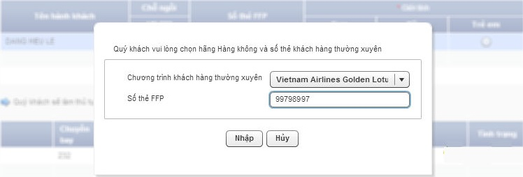 check-in online hang vietnam airline