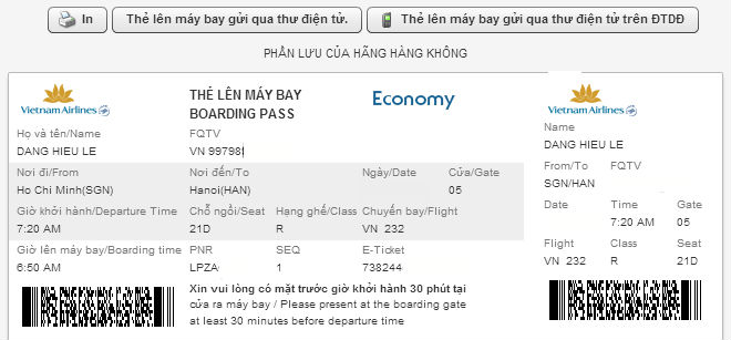 lam check-in online hang vietnam airline