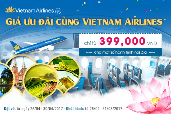 khuyen mai ve may bay Vietnam Airlines