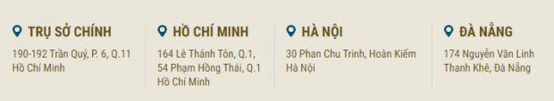 Địa chỉ đại lý Vietnam Airlines