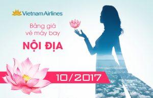 Giá vé máy bay Vietnam Airlines nội địa tháng 10/2017