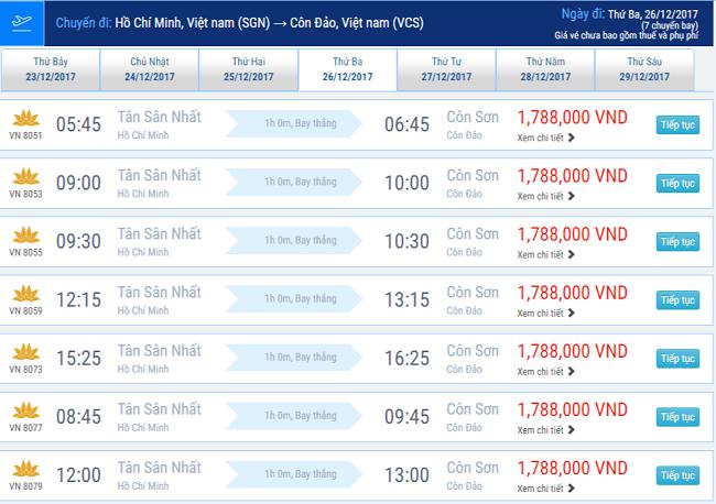 Vé máy bay Sài Gòn Côn Đảo