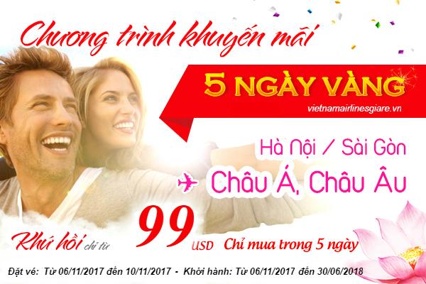 Vé máy bay Vietnam Airlines khuyến mãi