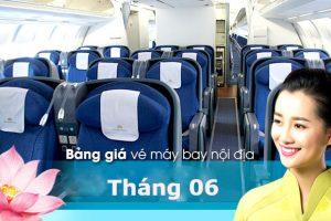Giá vé máy bay Vietnam Airlines nội địa tháng 6/2021