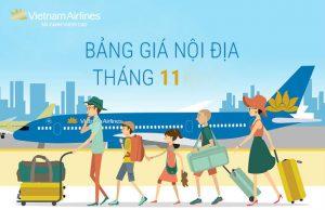 Bảng giá vé máy bay Vietnam Airlines nội địa tháng 11 siêu tiết kiệm