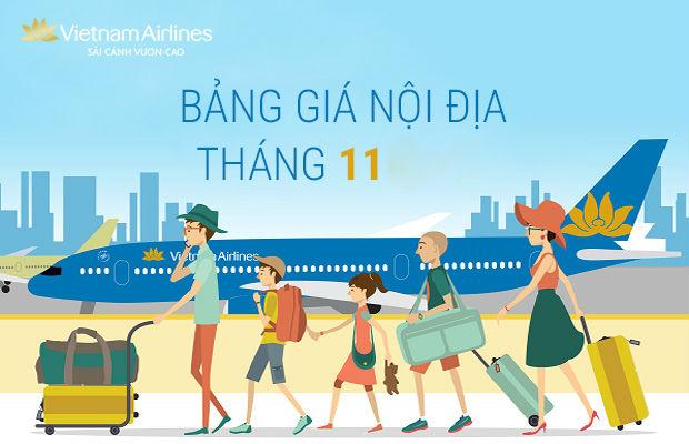 bảng giá vé máy bay vietnam airlines tháng 11