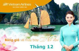 Bảng giá vé máy bay Vietnam Airlines nội địa tháng 12/2021
