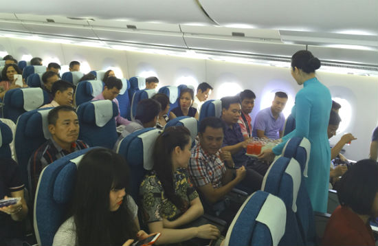 Ngồi yên một chỗ trên máy bay