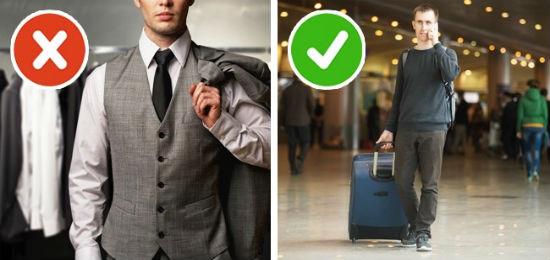 Lựa chọn quần áo và trang phục khi đi máy bay