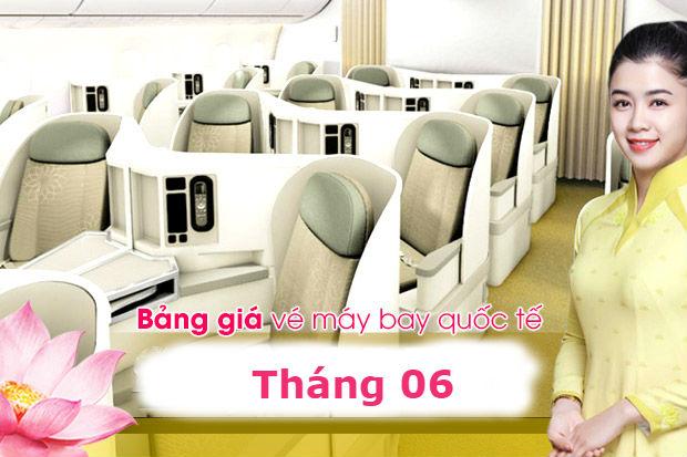 Giá vé máy bay Vietnam Airlines quốc tế tháng 6/2021