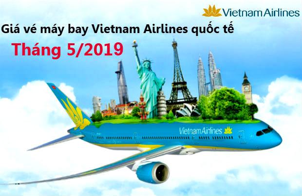 Giá vé máy bay Vietnam Airlines quốc tế tháng 5/2021