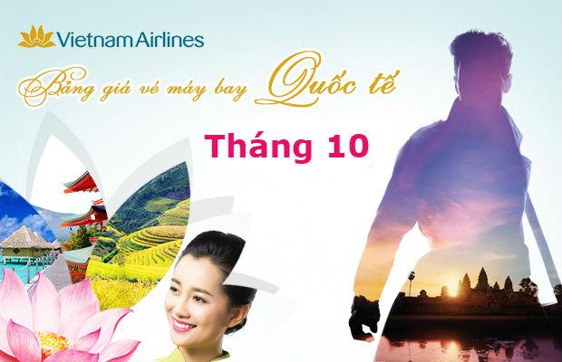 Giá vé máy bay Vietnam Airlines quốc tế tháng 10/2021