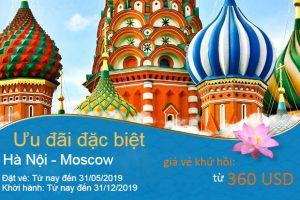 Vietnam Airlines ưu đãi đặc biệt đến Nga giá cực hấp dẫn từ 360 USD