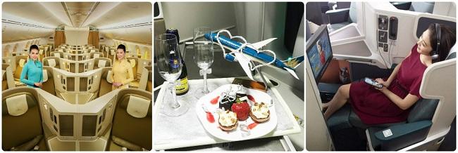 Dịch vụ sang trọng đẳng cấp của hạng ghế thương gia Vietnam Airlines