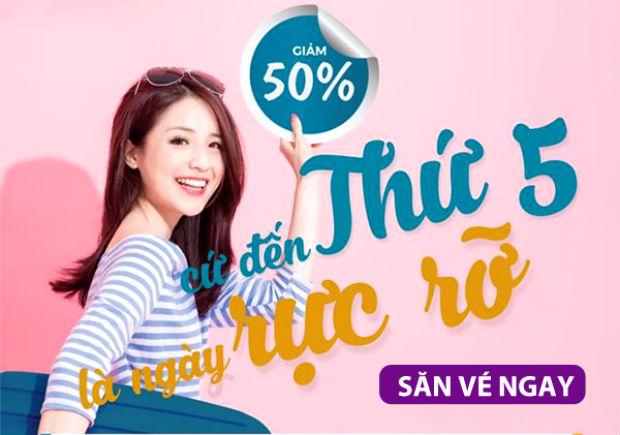 Ưu đãi Vietnam Airlines thứ 5 rực rỡ giảm lên đến 50%