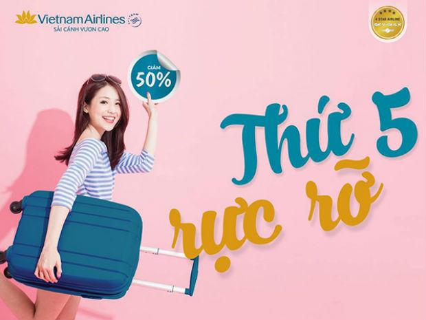 Mua vé Vietnam Airlines vào ngày thứ 5 giảm lên đến 50%