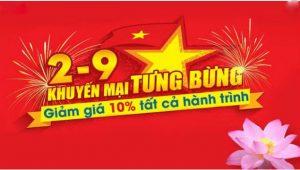 Vietnam Airlines rộn ràng khuyến mãi giảm 10% giá vé nhân ngày 2/9