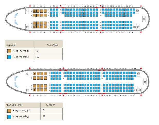 chọn chỗ ngồi trên máy bay Vietnam Airlines