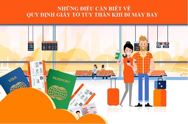 giấy tờ đi máy bay vietnam airlines