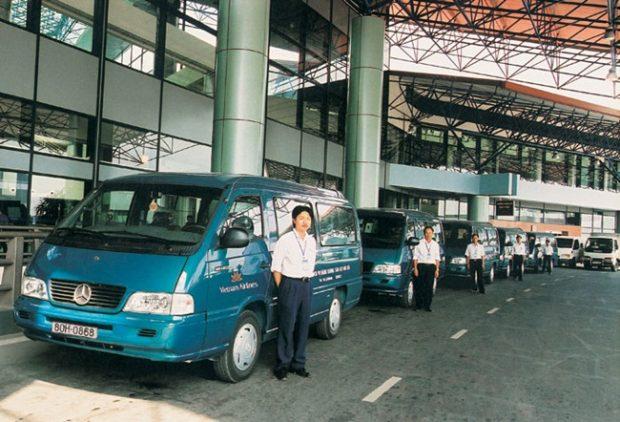 Xe bus Vietnam Airline ở Nội Bài