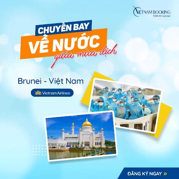 Chuyến bay từ Brunei về Việt Nam