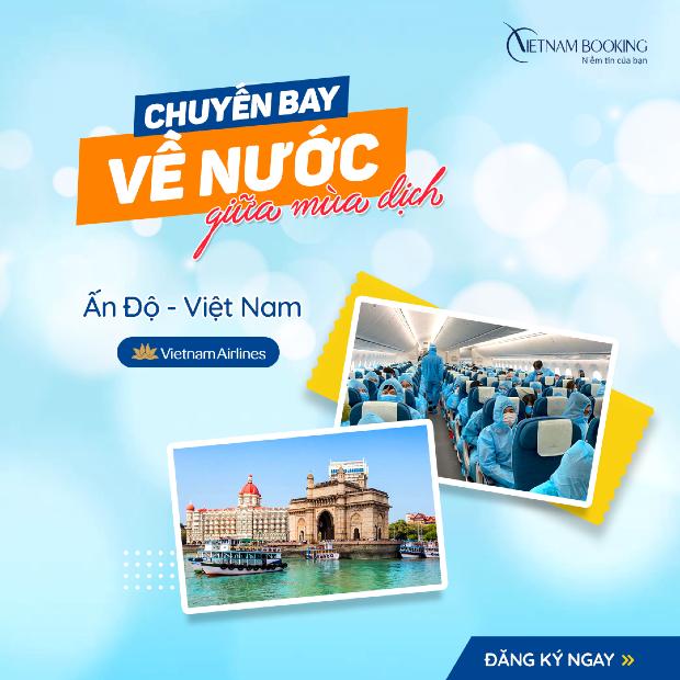 chuyến bay từ Ấn Độ về Việt Nam