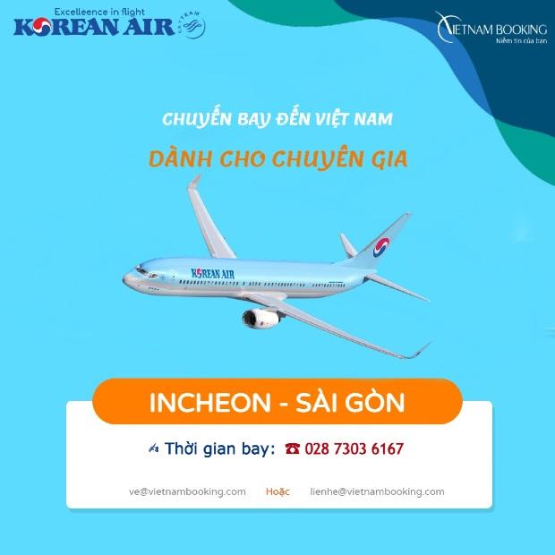 Vé máy bay đón chuyên gia từ Hàn Quốc về Việt Nam