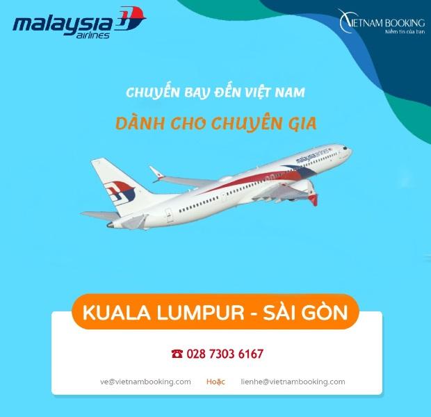 Vé máy bay chuyên gia Malaysia về Việt Nam