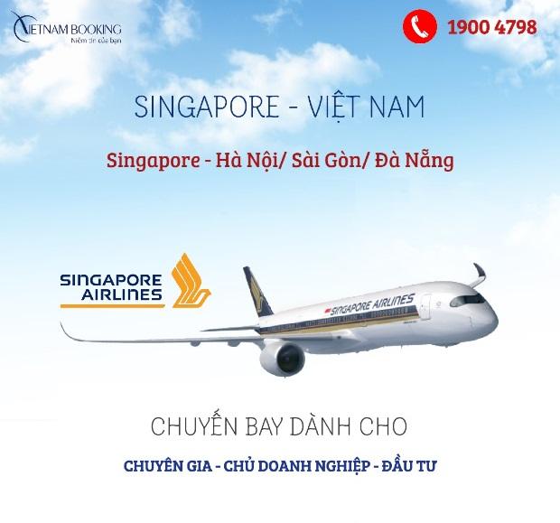 vé máy bay chuyên gia Singapore về Việt Nam