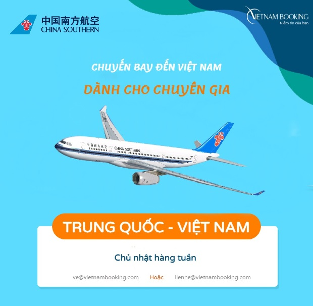 Vé máy bay đón chuyên gia từ Trung Quốc về Việt Nam