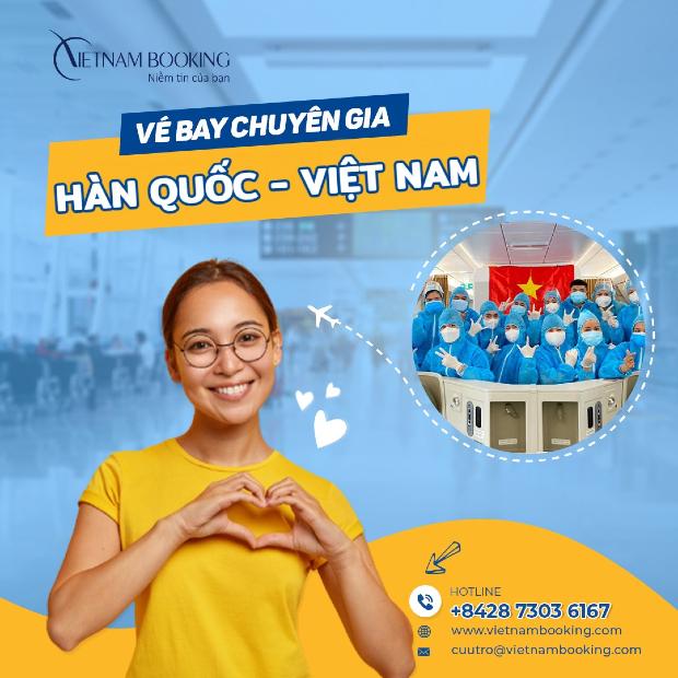 chuyến bay chuyên gia từ Hàn Quốcvề Việt Nam