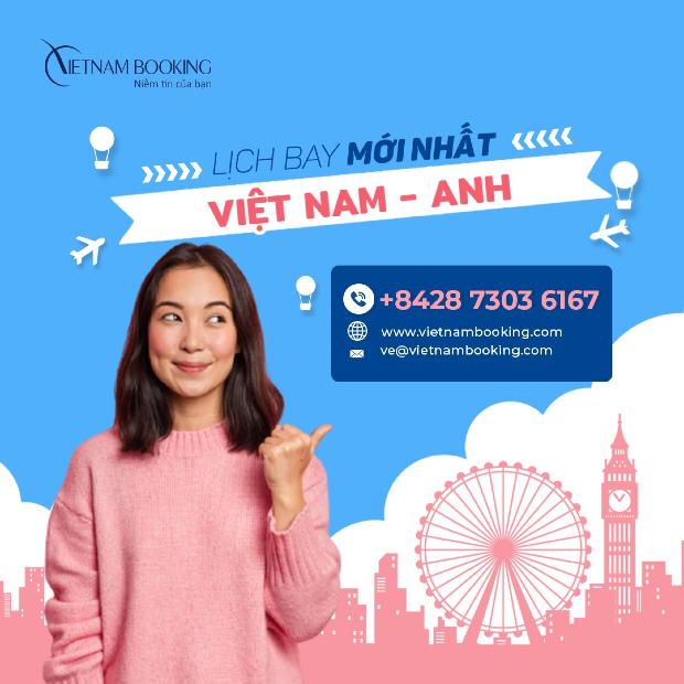 vé máy bay từ Việt Nam đi Anh