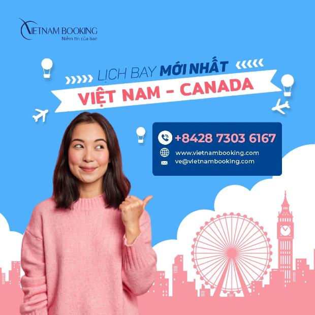 chuyến bay từ Việt Nam đi Canada