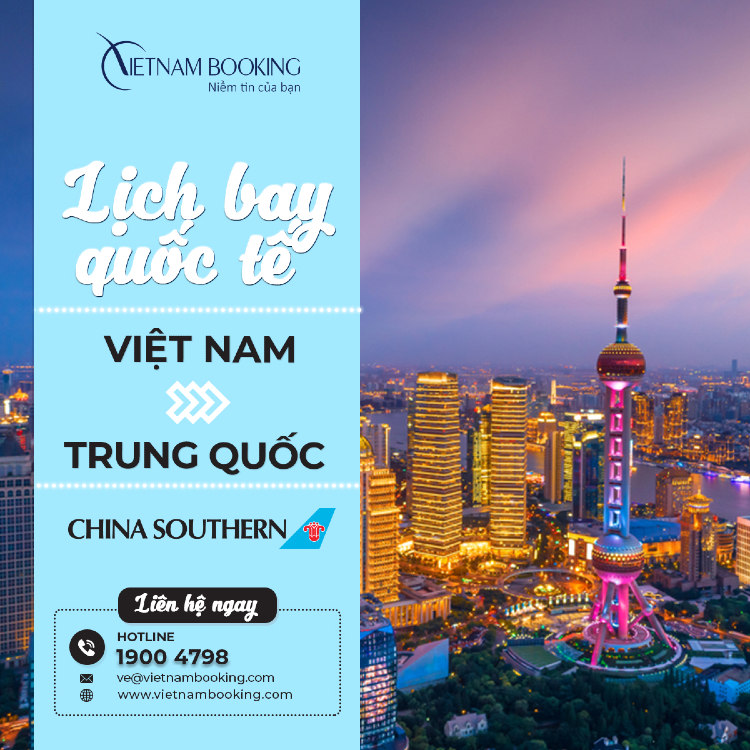 vé máy bay từ Việt Nam đi Trung Quốc