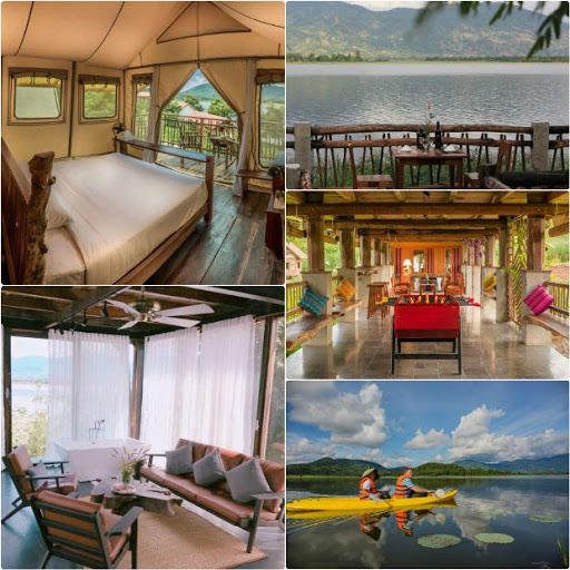 toàn cảnh Lak tanted camp - khách sạn Đắk Lắk