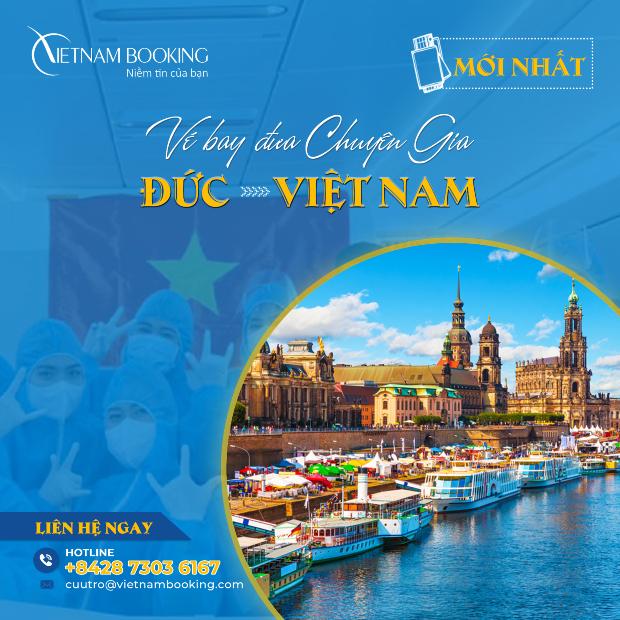 chuyến bay đón chuyên gia từ Đức đến Việt Nam