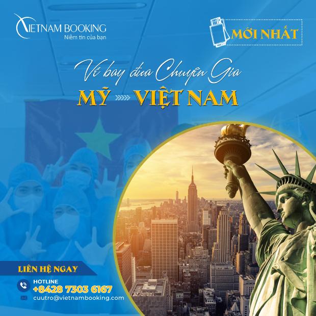 vé máy bay chuyên gia nước ngoài từ Mỹ về Việt Nam