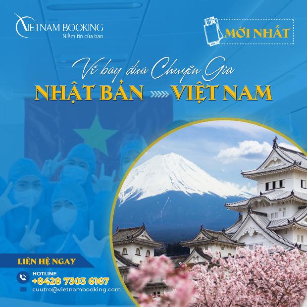 chuyến bay đón chuyên gia từ Nhật Bản đến Việt Nam